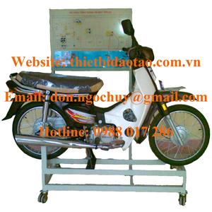 Mô hình tổng thành động cơ xe máy dàn trải (xe số hoạt động được).