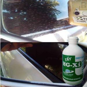 Tẩy ố mốc đốm nước nước khô trên gương kính xe HG X1 HARDWATER STAIN REMOVER for Car 250 ML