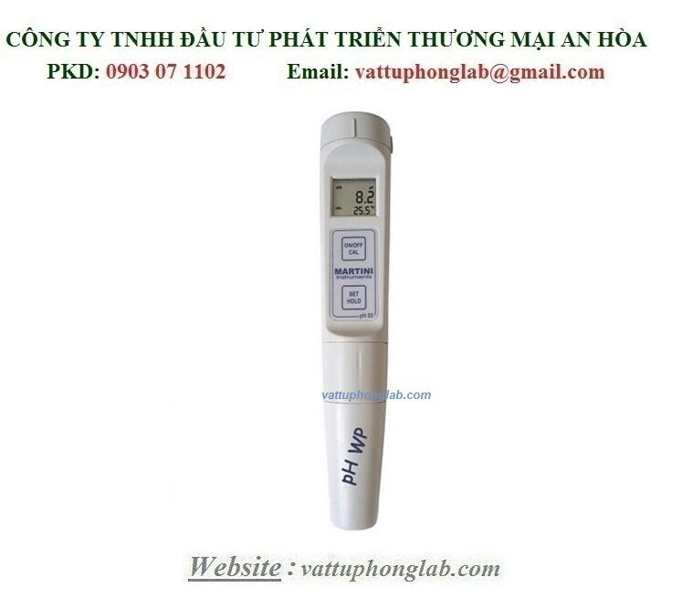 BÚT ĐO pH/NHIỆT ĐỘ ĐIỆN TỬ (CHỐNG NƯỚC CHUẨN IP65) MODEL:PH55