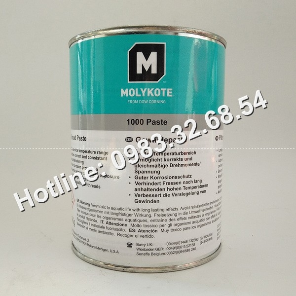 Mỡ chống kẹt chịu nhiệt độ MOLYKOTE 1000 Paste của hãng Dupont Mỹ