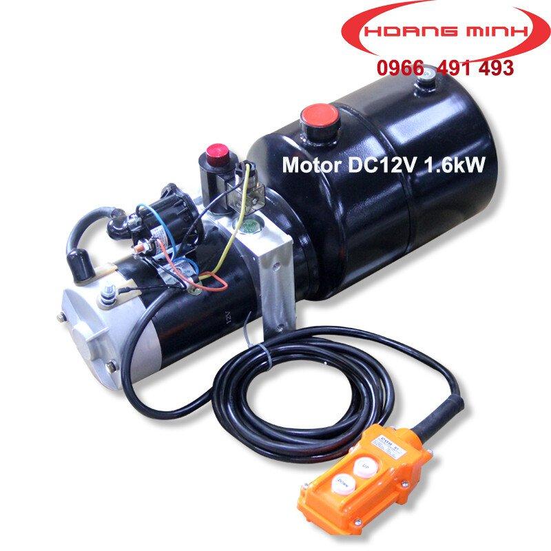Mô tơ điện DC12V- Mô tơ bơm thuỷ lực xe nâng