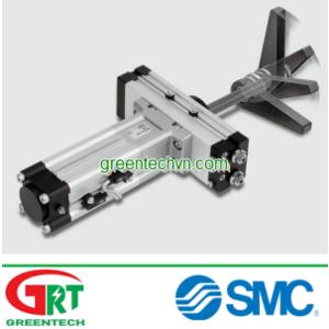 Rotary cylinder / pneumatic / double-acting / rack-and-pinion   MRQ series   SMC Vietnam   Khí nén