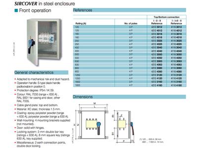 MTS 4P 1600A SIRCOVER