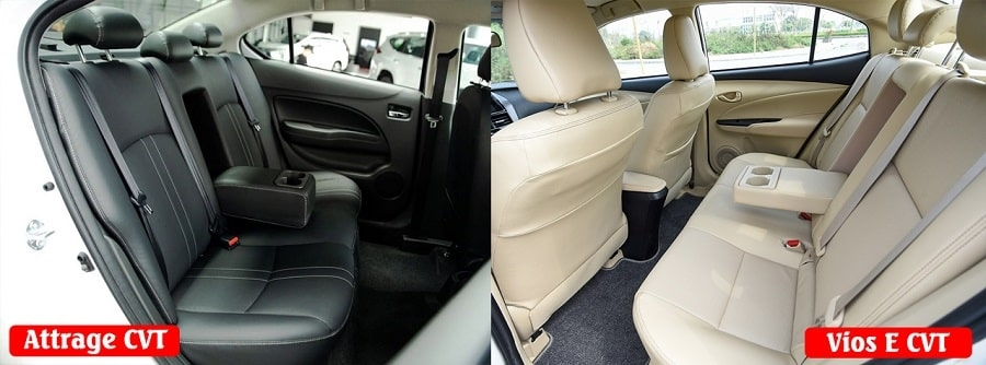 Mua Toyota Vios bản E tự động hay Mitsubishi Attrage bản CVT cao cấp