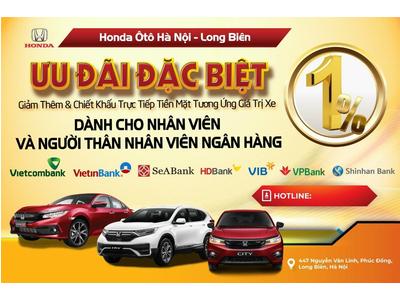 Mua Xe Honda Giảm Thêm 1% Giá Trị Xe