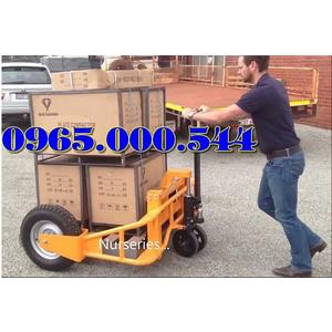 Xe nâng tay địa hình, xe nâng tay bánh lốp 1 tấn 1.5 tấn