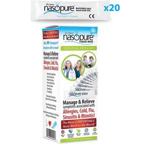 Muối rửa mũi, xoang Nasopure Personal Refill Kit 3.75 gr (20 gói)