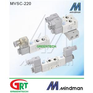 MVSC-300-4E2C MVSC-300-4E2P   Van điện từ Mindman   Solenoid Valve khí nén   Mindman Vietnam