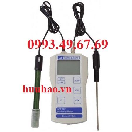 MÁY ĐO pH/NHIỆT ĐỘ CHUYÊN DÙNG ĐO THỰC PHẨM MW 102