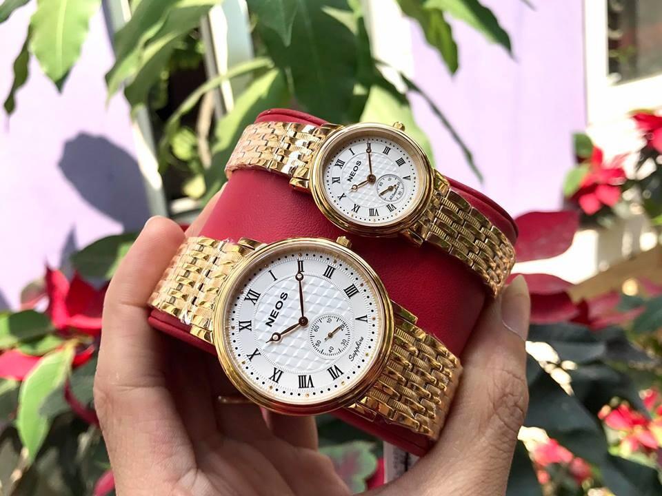 Đồng hồ đôi neos n-30851m - kt chính hãng