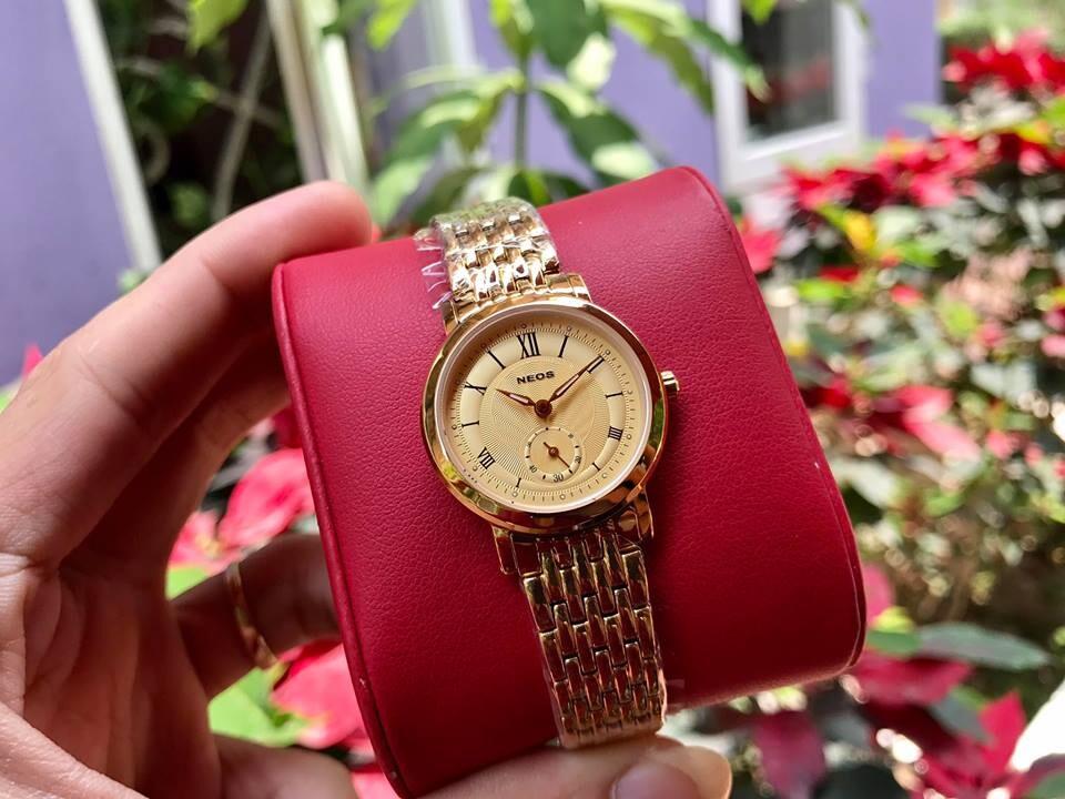 đồng hồ nữ neos n-40675l - kv chính hãng | hieutin.com