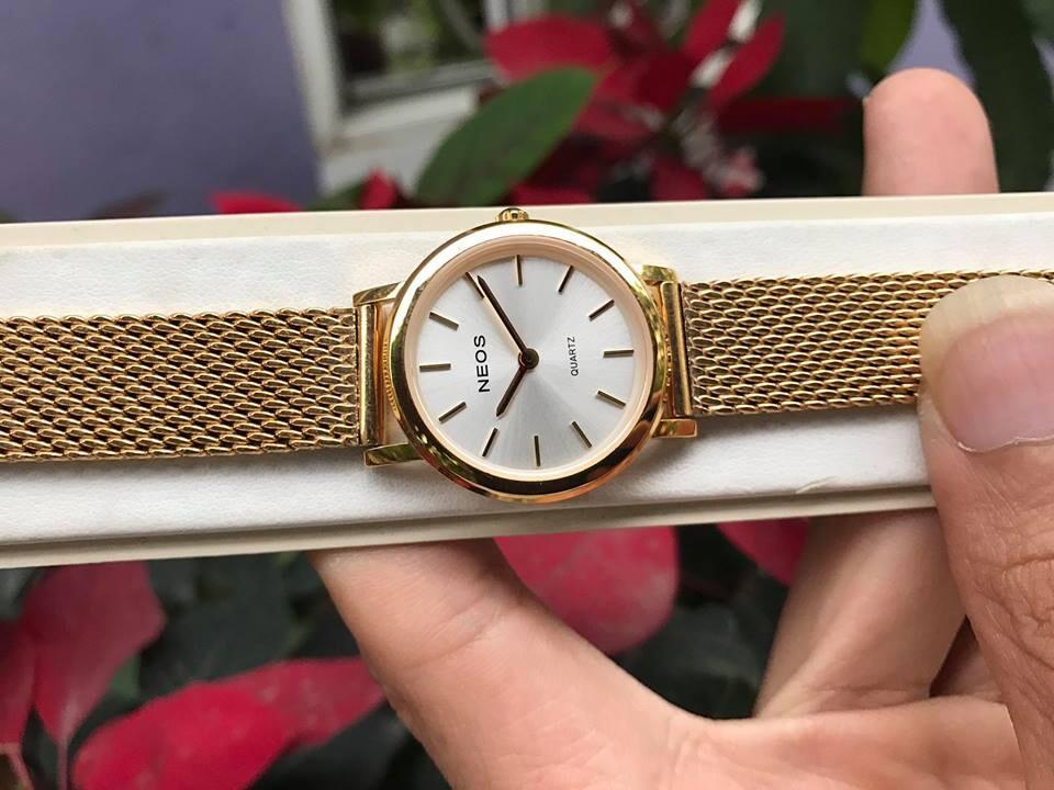 đồng hồ nữ neos n-40685l - kv chính hãng   hieutin.com