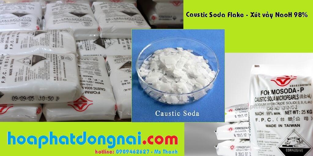 Xút vảy Natri hydroxit NaOH 98% (Đài Loan)