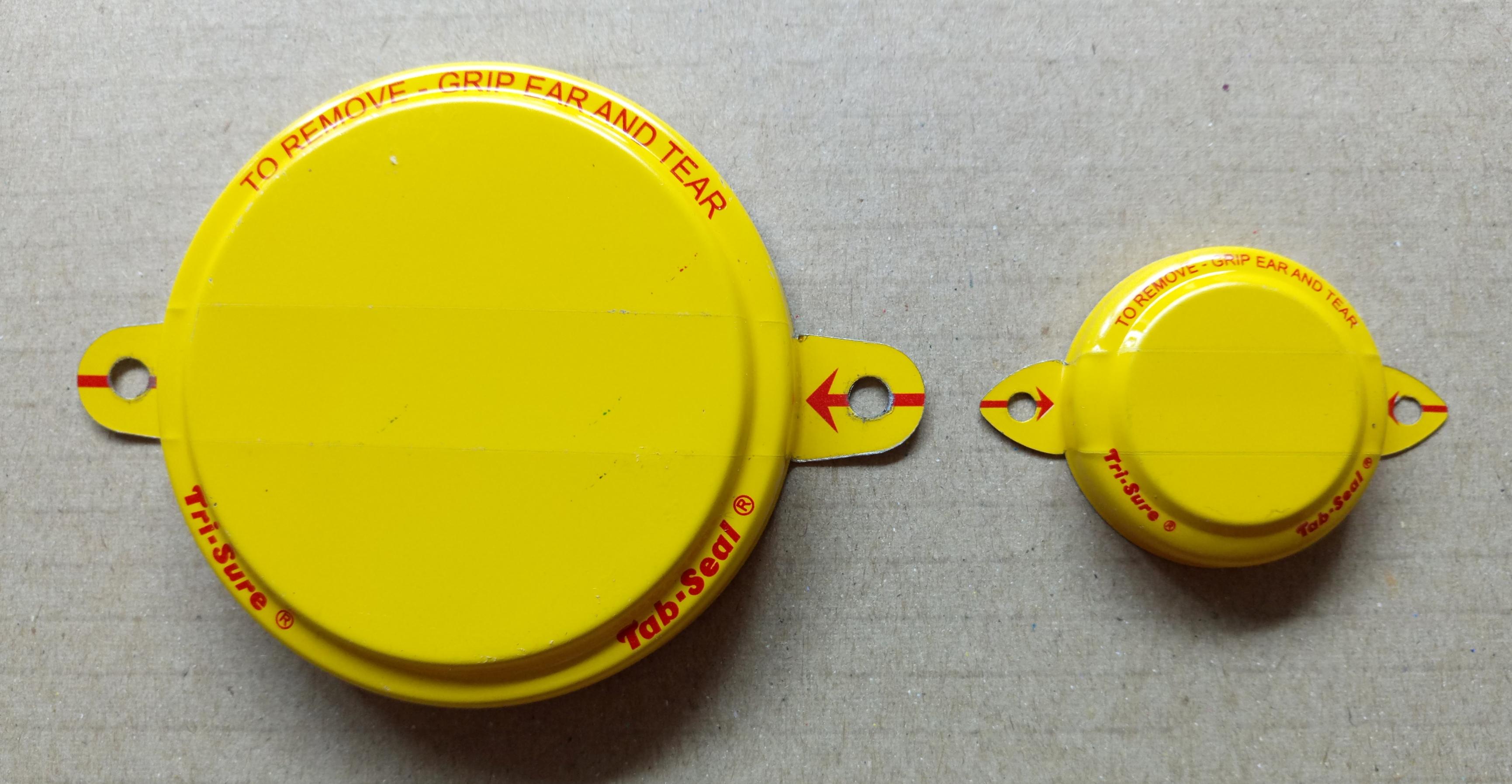 Nắp seal thùng phuy in màu
