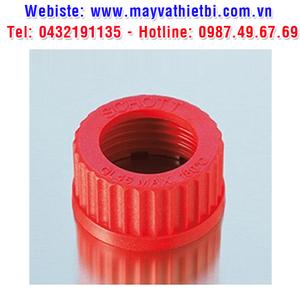 Nắp vặn có lỗ nhựa PBT màu đỏ - DURAN