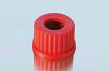 Nắp vặn GL 32 nhựa PBT đỏ, có lỗ - DURAN
