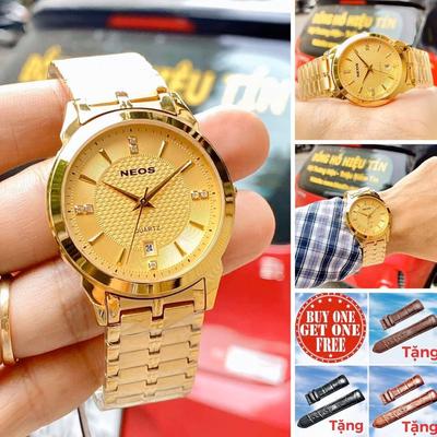 [ Black friday ] Đồng hồ nam neos N-30871M.ssd chính hãng - Tặng dây da cá sấu handmade