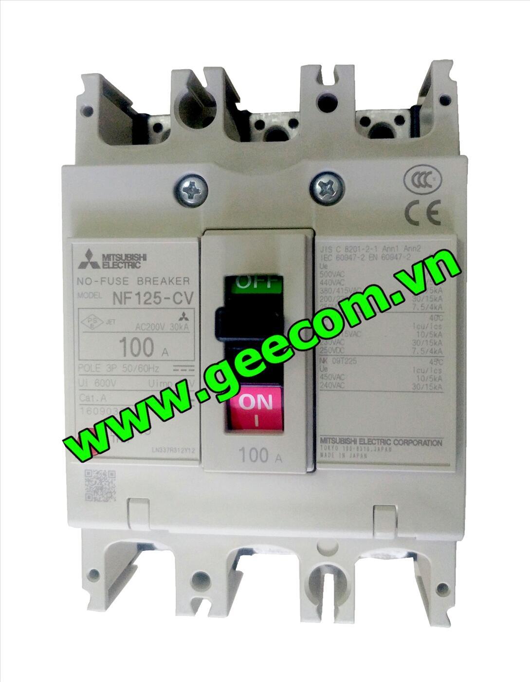 MCCB 3P NF125-CV 100A