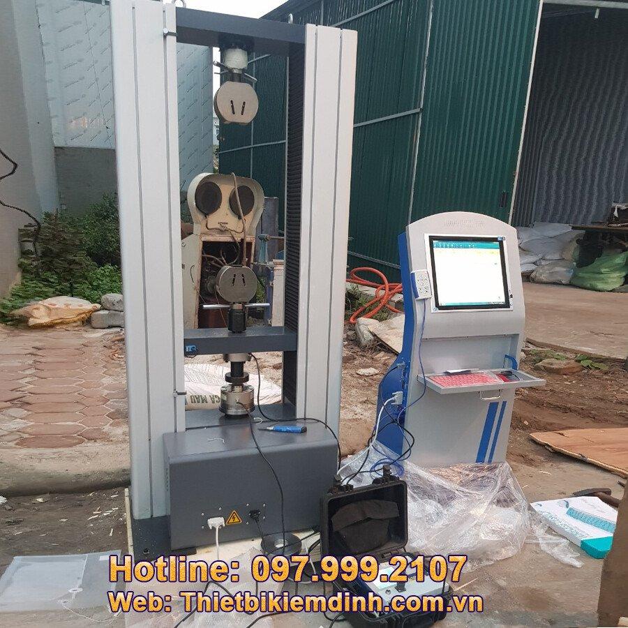 Hình ảnh máy thí nghiệm vải địa kỹ thuật điều khiển máy tính cảm ứng