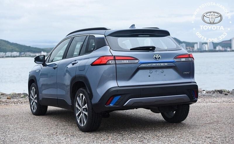 Ngoại thất xe Toyota corolla Cross 1.8HV Hybrid 2021 màu xám xanh