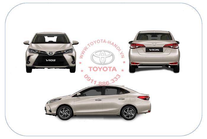 Ngoại thất xe Toyota Vios 2021 mới