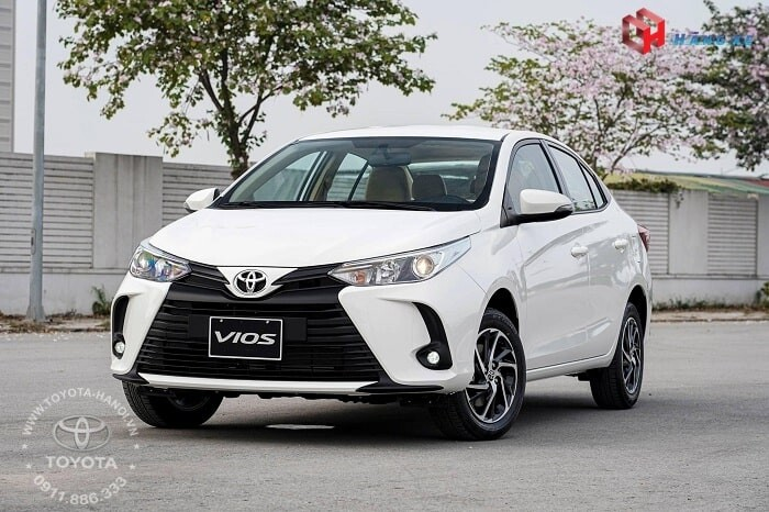 xe Toyota Vios E CVT số tự động 2021 màu trắng