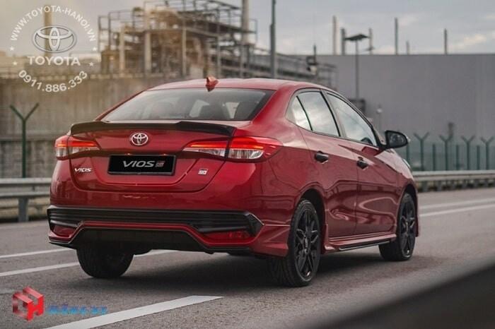 Ngoại thất thể thao của mẫu xe Vios GRS 2021