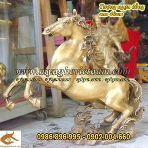 Tượng ngựa phi chân cao 42cm