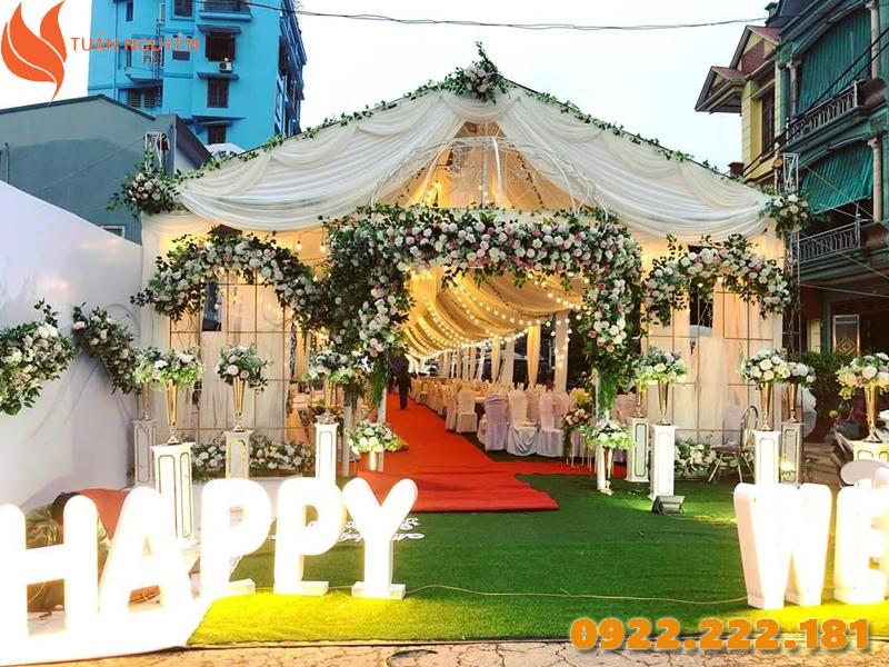 Cho thuê khung rạp đám cưới giá rẻ tại TP.HCM