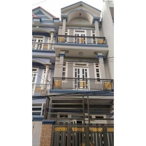 Nhà mặt tiền đường Trần Thị Hè, Q12 đúc một trệt, hai lầu giá 940 triệu