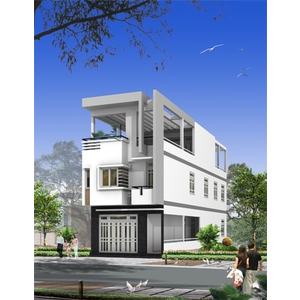 Nhà phố 1 trệt 2 lầu Chị Hiền đường Nguyễn Hữu Cảnh, Bình Thạnh