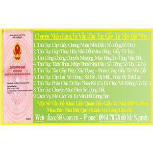 Nhận Lo Chuyển Nhượng Sổ Đỏ Tại Nhà Quận Tân Phú