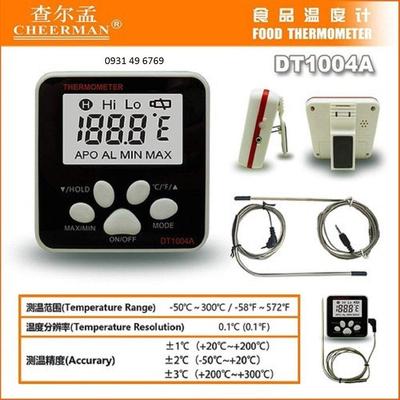 Nhiệt kế điện tử DT1004A có dây dài 1m