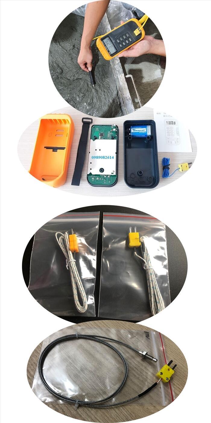 máy đo nhiệt độ bê tông - Nhiệt kế thí nghiệm bê tông