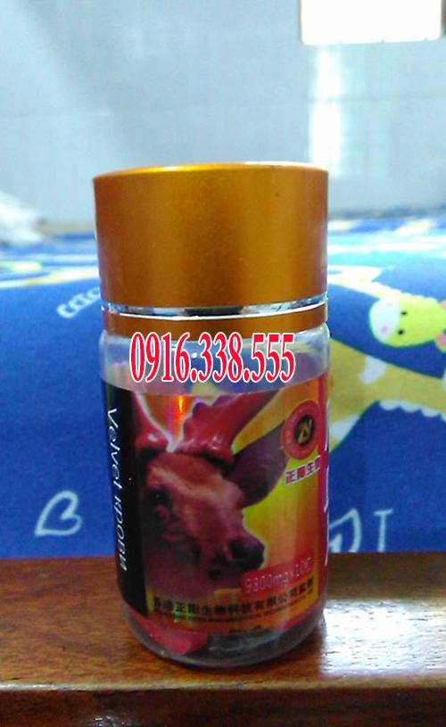 Thuốc cường dương thảo dược Nhung Nai Deer Blood Piece 9800 mg