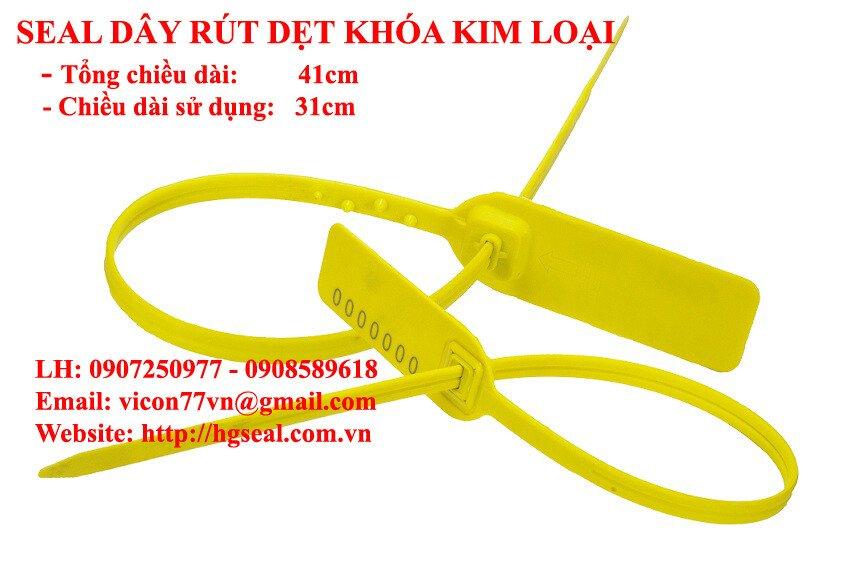 Seal dây rút dẹt khóa kim loại 41cm