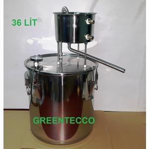 Nồi chưng cất nước hoa hồng, tinh dầu 51 lít đun ga/than/củi/hồng ngoại