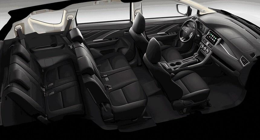 Nội thất 7 chỗ ngồi xe Mitsubishi Xpander số sàn mt