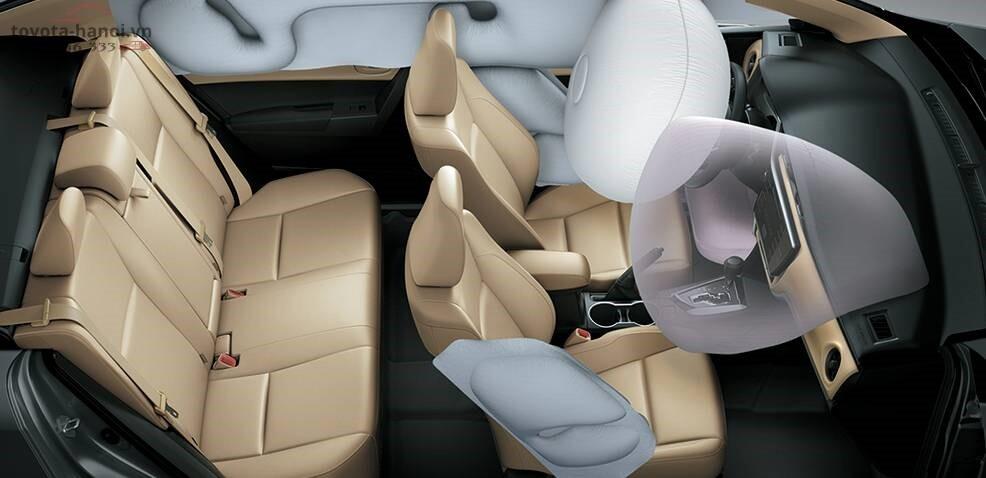 Hệ thống túi khí trên xe Toyota Altis 1.8g 2020