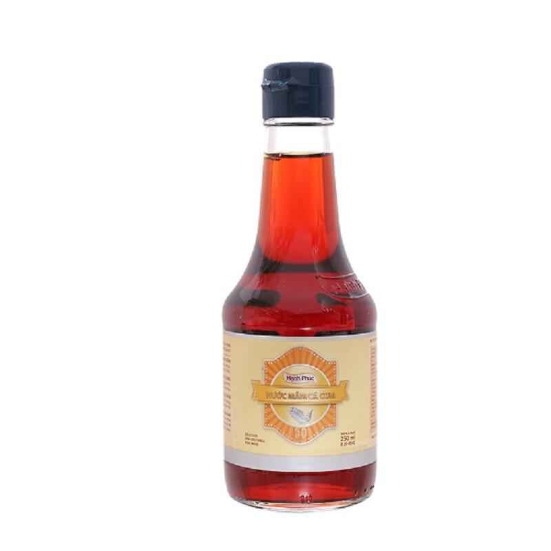 Thùng Nước mắm Hạnh Phúc 50 độ chai 250ml( 20 chai/Thùng)