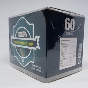 Nước mắm hạnh phúc 60 độ đạm thùng hộp 50ml