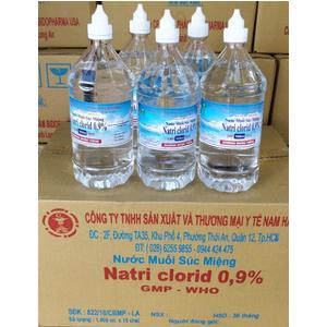 Nước muối súc miệng Natri Clorid 0.9% Nam Hà 1000 ml