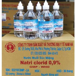 Nước muối súc miệng Natri Clorid 0.9% Nam Hà 500 ml