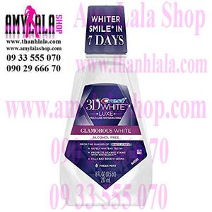 Nước súc miệng 7 ngày trắng răng Crest 3D White Luxe Glamorous 237ml - 0933555070 - 0902966670 -