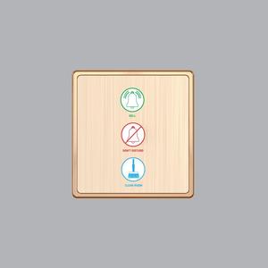 Nút Nhấn Chuông + 1 Đèn Báo Không Làm Phiền + 1 Đèn Báo Dọn Phòng S7CDP