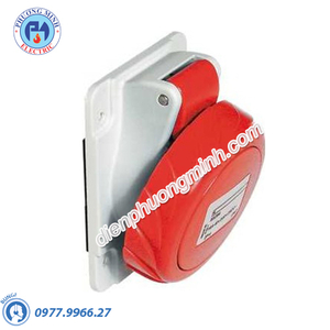 Ổ cắm âm dạng nghiêng 4P+E 400V 16A - Model PKF16F735