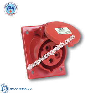 Ổ cắm âm nghiêng 32A 3P 230V, 6H, IP67 - Model F4232-6F78