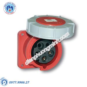 Ổ cắm âm nghiêng 63A 4P 230V 9H IP68 - Model F434-9