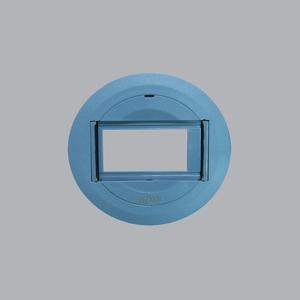 Ổ cắm âm sàn 3 lỗ kiểu tròn bằng nhựa + đế âm FGP