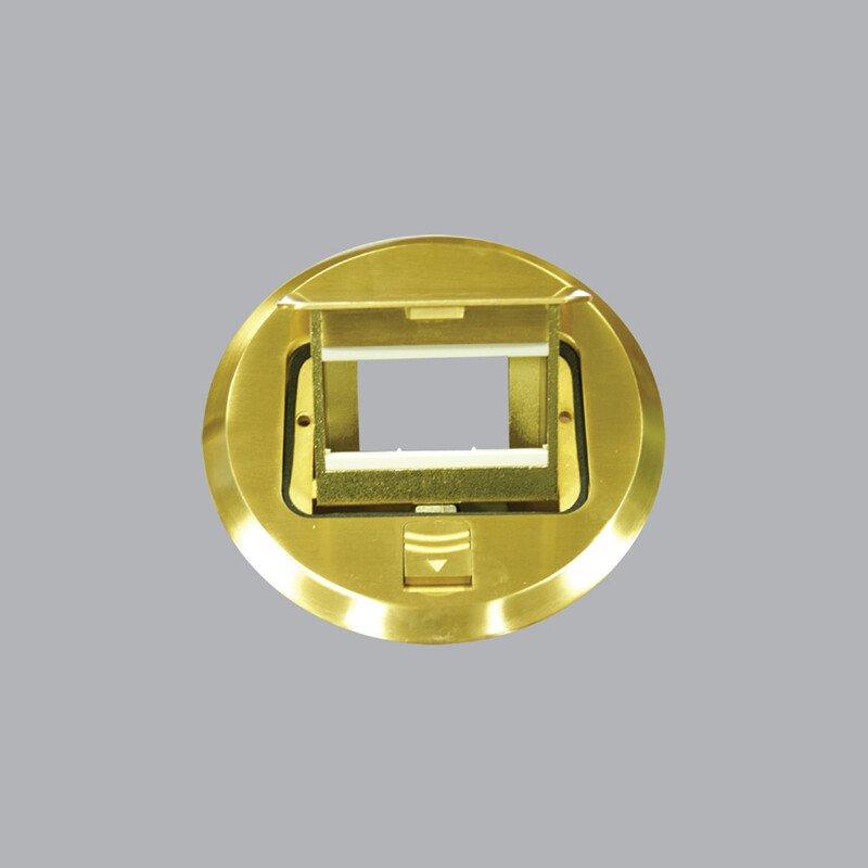 Ổ cắm âm sàn kiểu tròn màu vàng FCY-60
